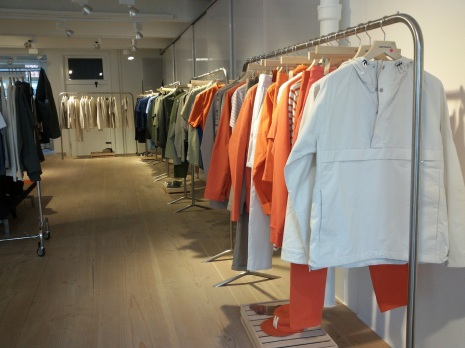 Im Showroom von Norse Projects.