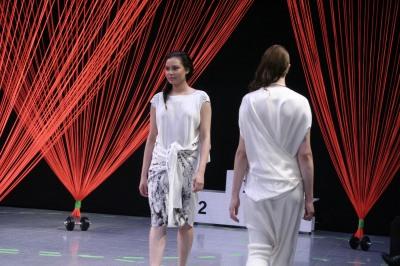 Auf dem Catwalk beim Modepreis 2015.