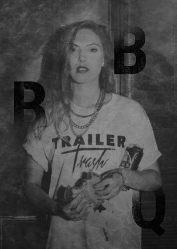 Trailer Trash laden zum BBQ.