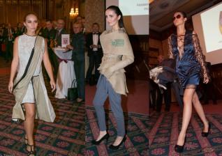 "Rechts: Clara Siegenthalers Outfit ""Bell-X-1"", das beim Frankfurt Style Award den 2. Platz in der Kategorie ""Blue Evolution"" gemacht hat."