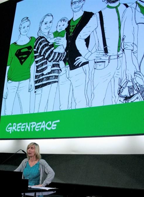 Dr. Kirsten Brodde bei ihrem Vortrag beim Slow-Fashion-Kongress.