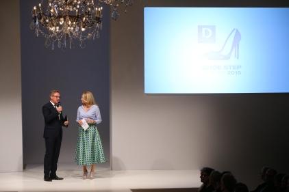 Heinrich Deichmann und Frauke Ludowig beim Deichmann Shoe Step of the Year 2015.