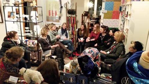 Der Designerinnen-Club 2015 - zu Gast im K3-Store.