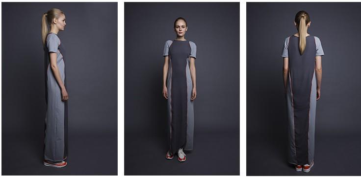 """Kleider im Stile athletischer Gewänder ergänzen Victoria von Hundts """"Submerged""""-Kollektion."""