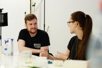 Christian Pries und Designerin Anna Weber von Nüska Couture.