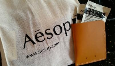 PB 0110 hatte exklusive Sachées für das Aesop-Opening kreiert.