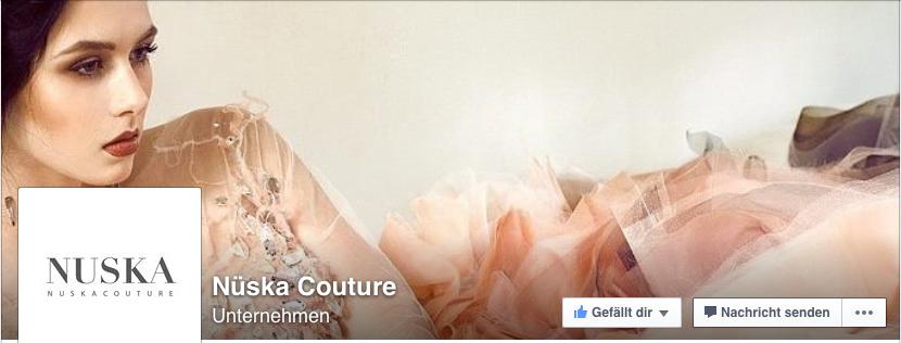Facebook-Seite von Anna Webers Label Nüska Couture.