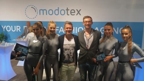 Das Modotex-Team bei der Fashiontech.