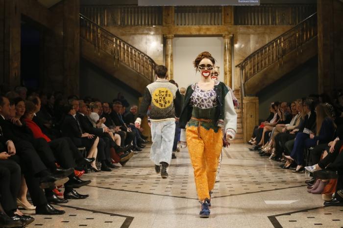 Defilee von Anna Bornhold beim Euro Fashion Award im Kaufhaus Görlitz.