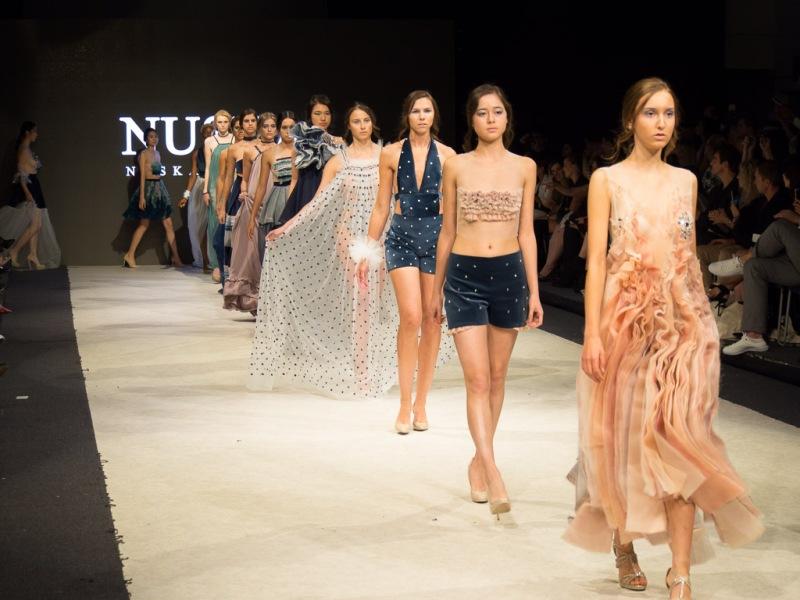 Nüska Couture feiert auf der Vancouver Fashion Week mit der Kollektion #line Defilee-Premiere