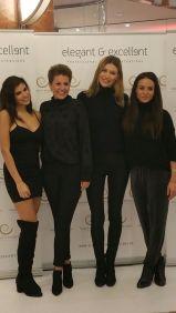 Vanessa Blumhagen (2.v.l.) mit weiteren Freundinnen von elegant&excellence bei der Eröffnung in der Kröpcke-Passage.